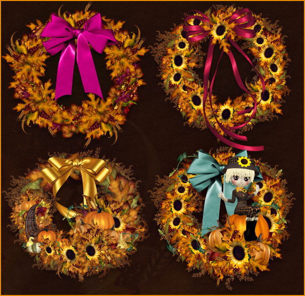 harvest wreath images