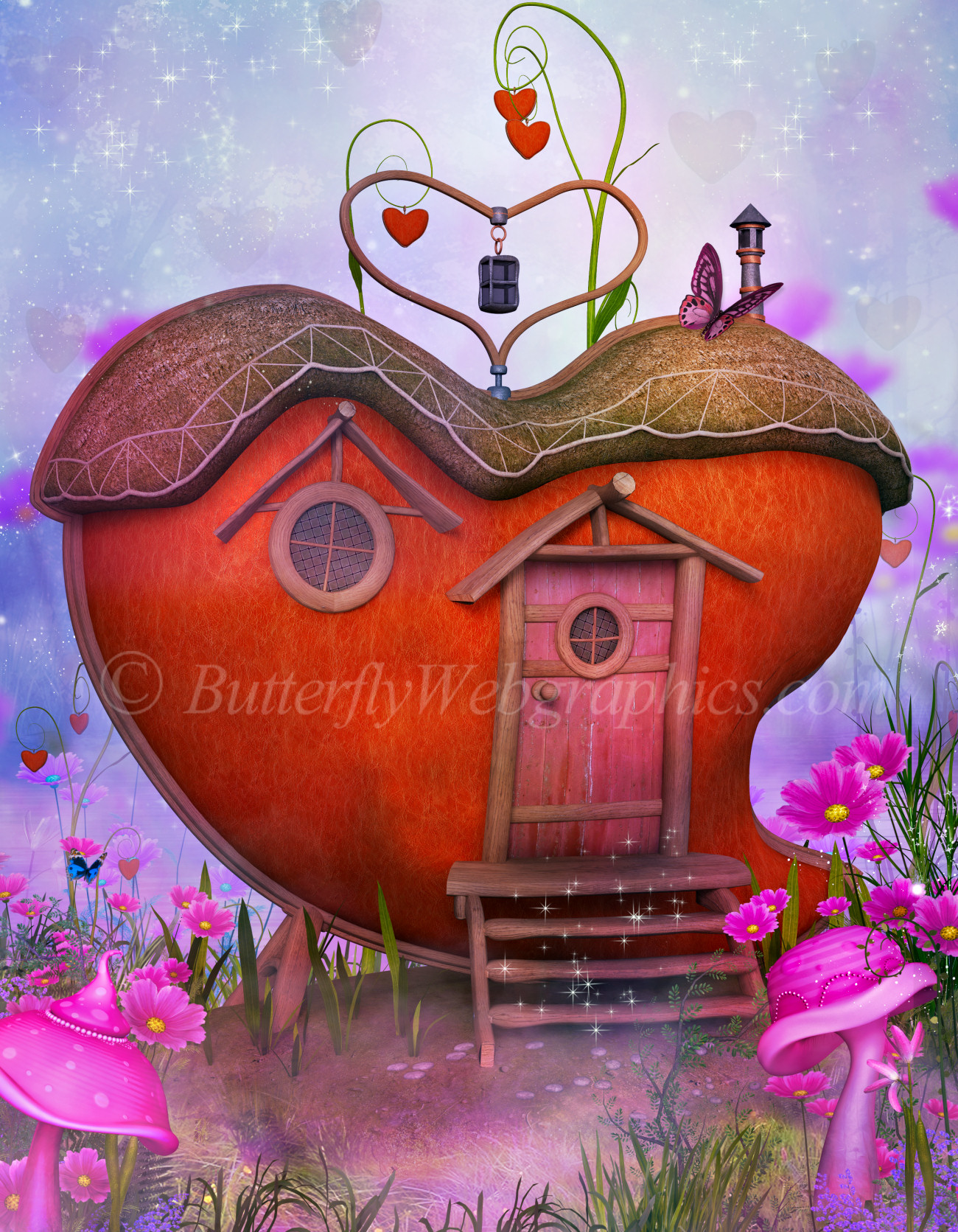 Valentine Heart House Graphics