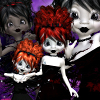 butterflywebgraphics.com Cute Goth Fairy psp tubes for your designs