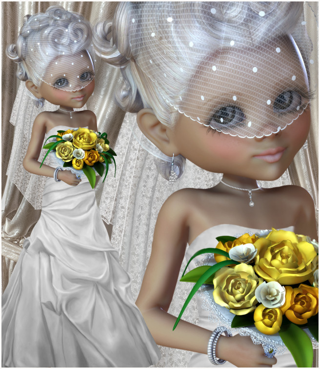 Little Bride Wedding Graphics