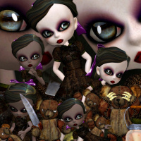 Little Goth girls psp tubes for your horror designs