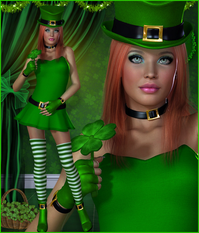 Lucky Irish Ladies Graphics