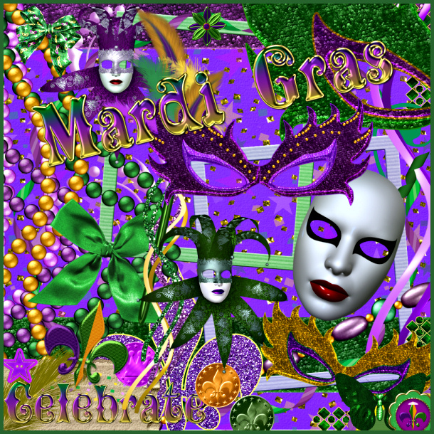 PSP tube download. Mardi Gras psp tubes and scrapbooking elements ...