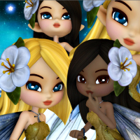 Butterflywebgraphics.com Fairy of the month Spring May Fairy tubes.