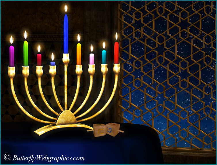 Menorah Lights Graphics--Dazzling menorahs for your Hanukkah designs