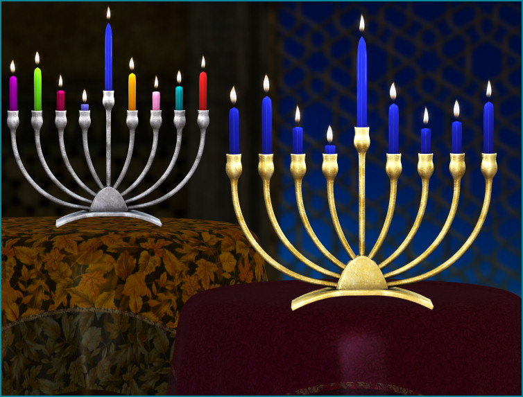 Dazzling menorahs for your Hanukkah designs