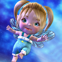 butterflywebgraphics.com toon moon baby fairy psp tube packages