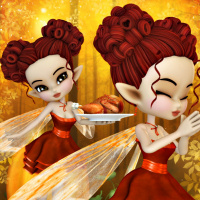 butterflywebgraphics.com Fairy of the month November Harvest Thanksgiving Fairy tubes