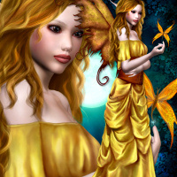 digitally painted fairy psp tubes for your fantasy designs clipart