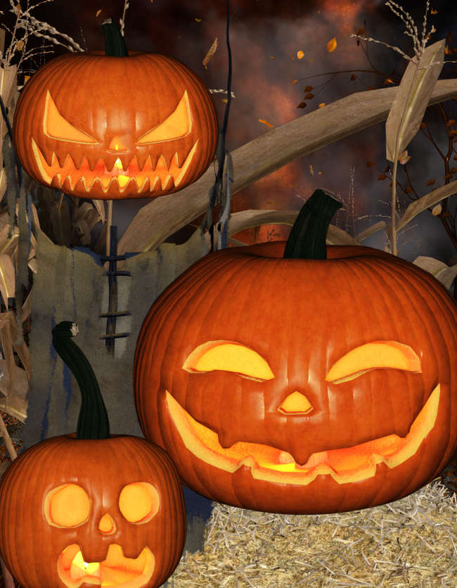 Pumpkin Patch Graphics Halloween Jack-o-lanterns