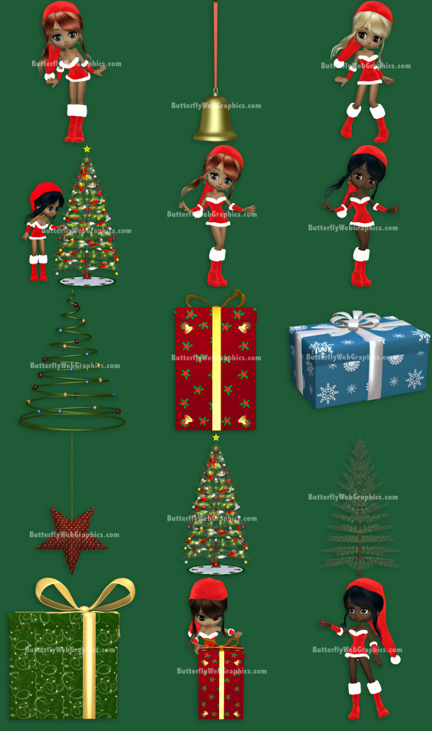 Santa's Little Helpers Christmas Graphics