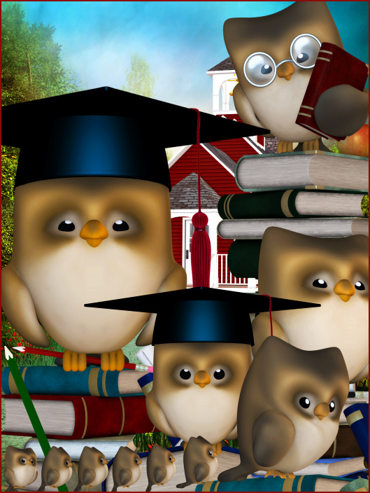 Wise Owl Tubes, Back to School tubes and clipart