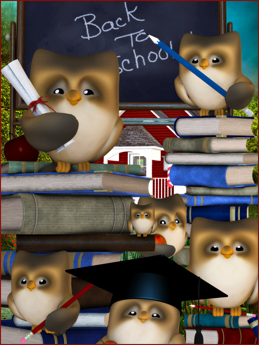 Back to School tubes and clipart