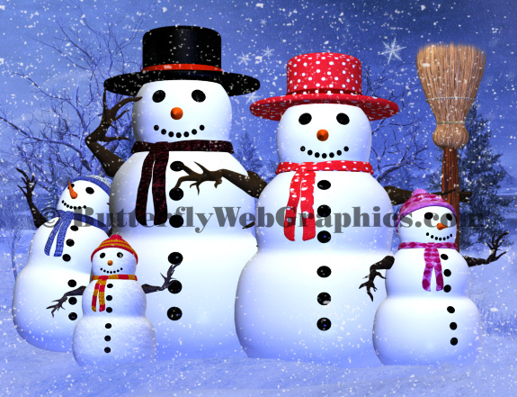 Snowman Family Graphics