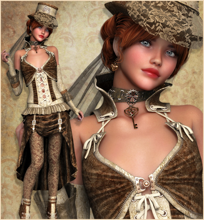 Steampunk Beauties Graphics