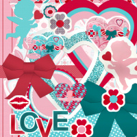 Valentine Sticker Scrap kit