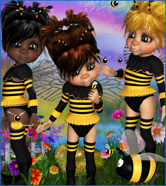 Sweet Honeybee Fairy Graphics