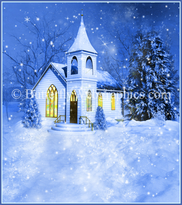 Winter Church Backgrounds