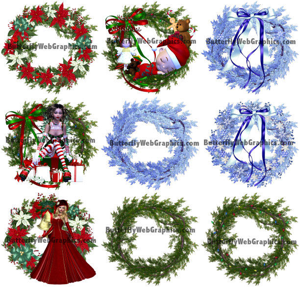 Winter Wreath Graphics