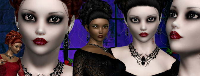 Black Widow Goth Halloween Graphics