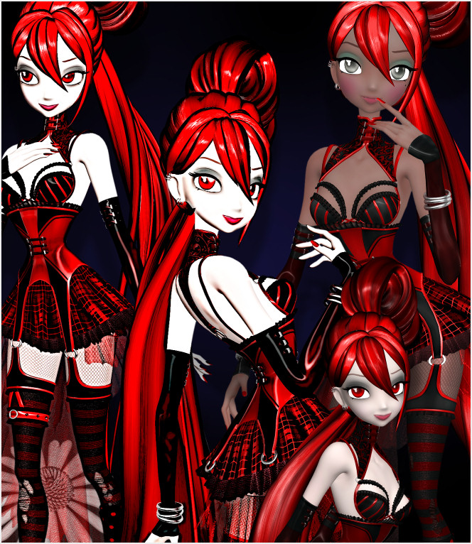 Ruby Goth Star Graphics