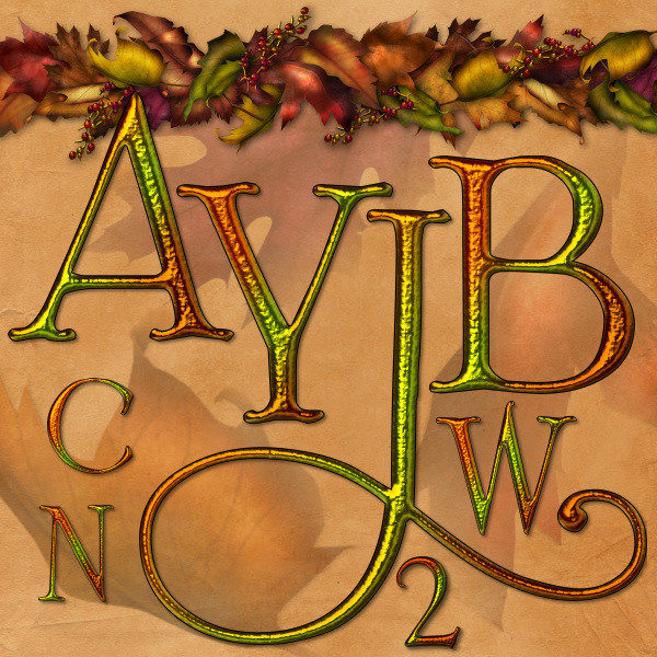 Autumn Alphabet Graphics