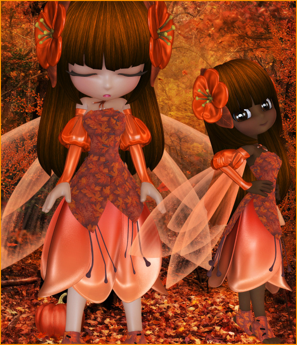 Autumn Blossom Fairy Graphics
