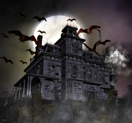 Haunted Cemetery House Graphics