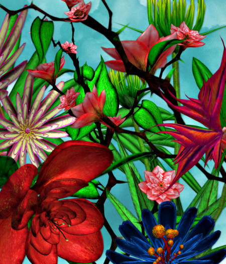 Magical Lotus Garden Graphics
