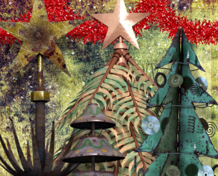 Steampunk Christmas Tree Graphics