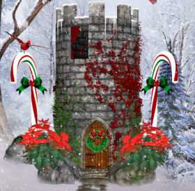 Christmas Fairy Tale Tower Graphics