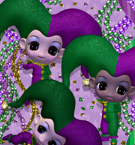 Little Mardi Gras Jester Graphics