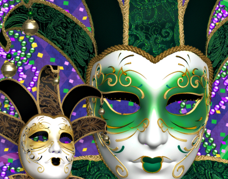 Royal Mardi Gras Mask Graphics