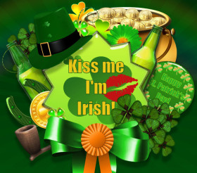 St. Patrick's Day Collage Graphics