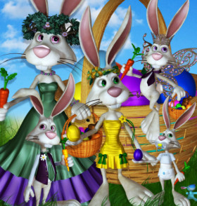 Bunny Family Graphics