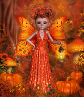 Monarch Autumn Butterfly Fairy