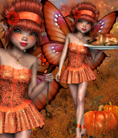 Harvest Fire and Ice Fairies