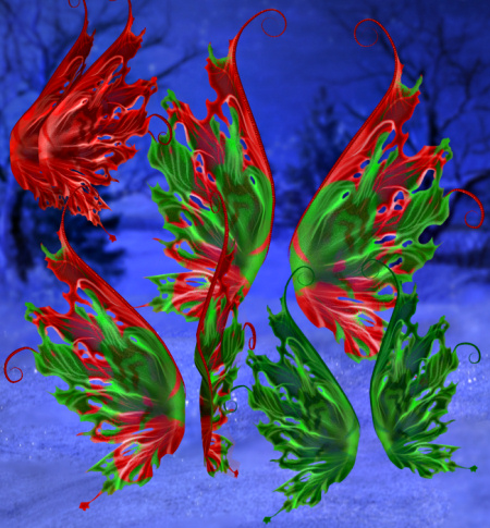 Festive Christmas Wing Graphics