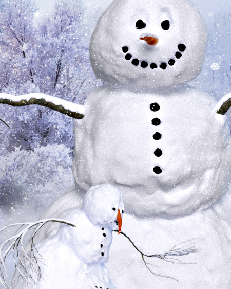 Realistic Snowman Graphics