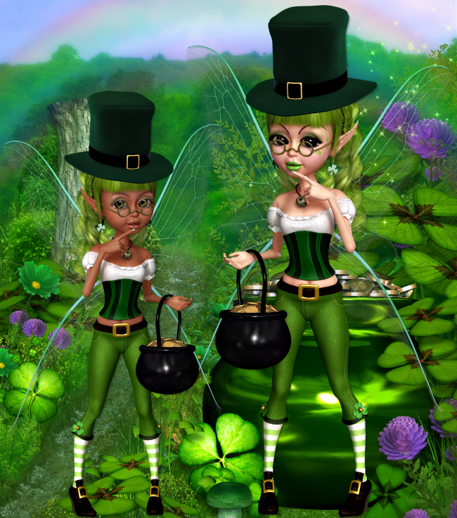 Zany St. Patrick's Fairies 2