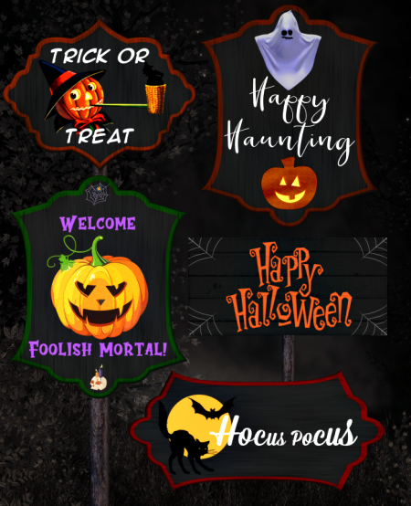 Halloween Sign Tubes