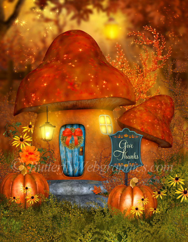 Harvest Mushroom House Backgrounds