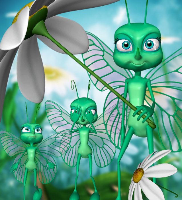 Bella Toon Butterfly Graphics