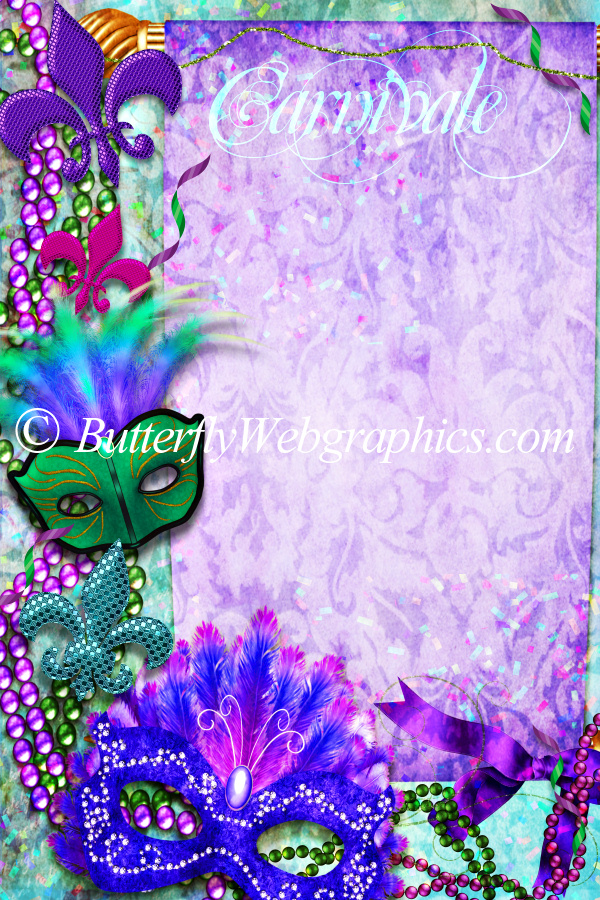 Electric Mardi Gras Backgrounds