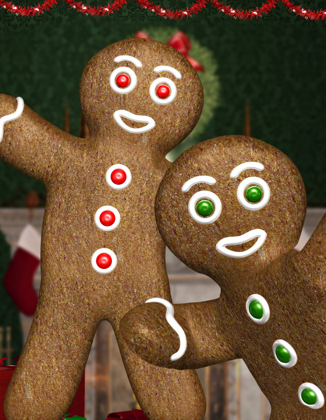 Christmas Gingerbread Graphics in the PNG format
