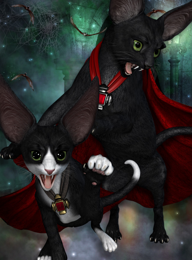 Count Catula Spooky Halloween Graphics in the PNG format