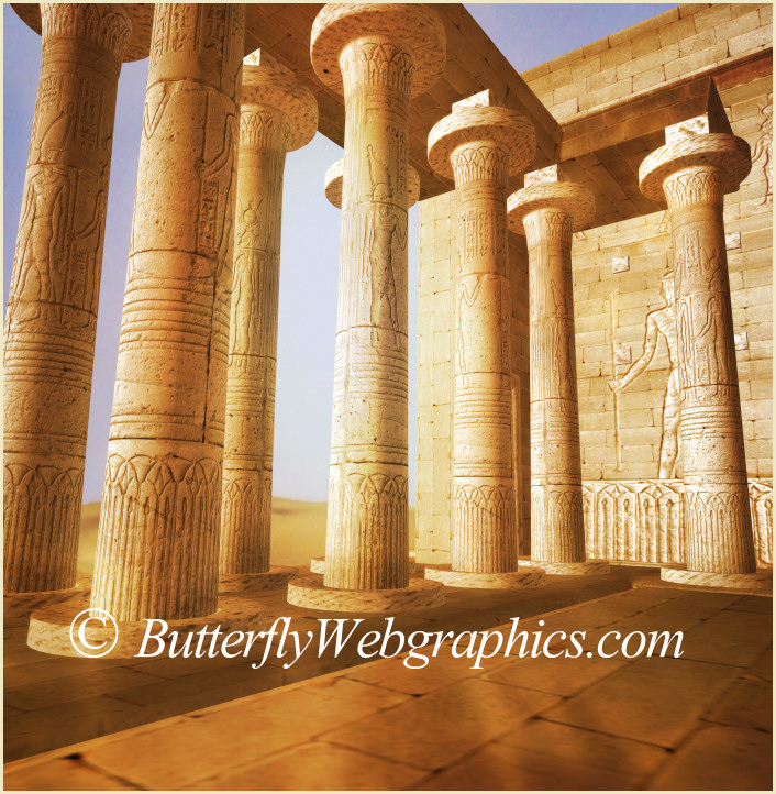 Egyptian Tomb Graphics, an ancient temple from Egypt.