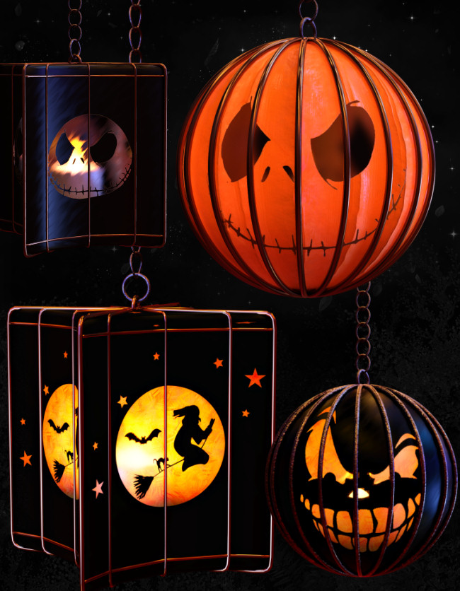 Fabulous Halloween Lights Graphics in the PNG format