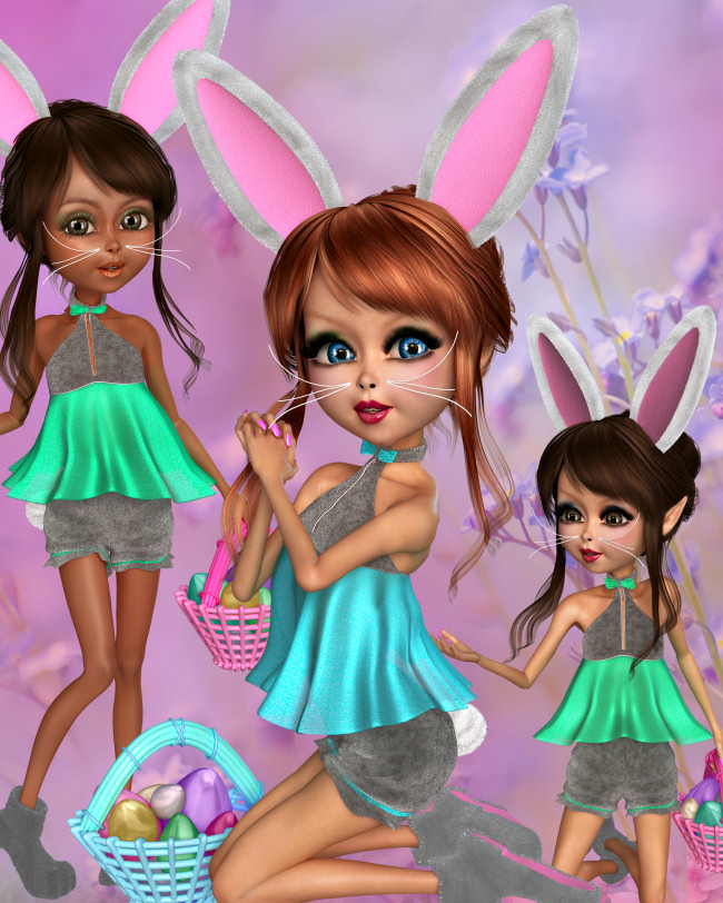 Fun Bunny Graphics for Easter