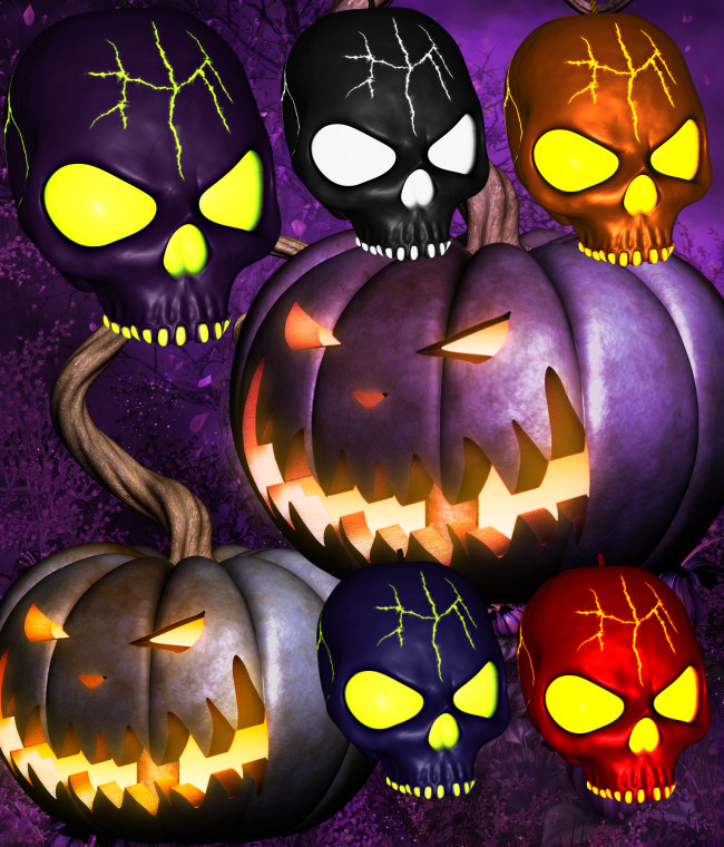 Halloween Mushroom House Backgrounds in the PNG format